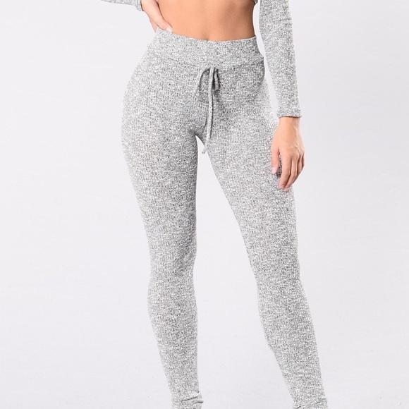 88d99428a3797 Fashion Nova Pants   New Cozy Heather Grey Leggings   Poshmark